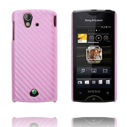 Carbonite (Vaaleanpunainen) Sony Ericsson Xperia Ray Suojakuori