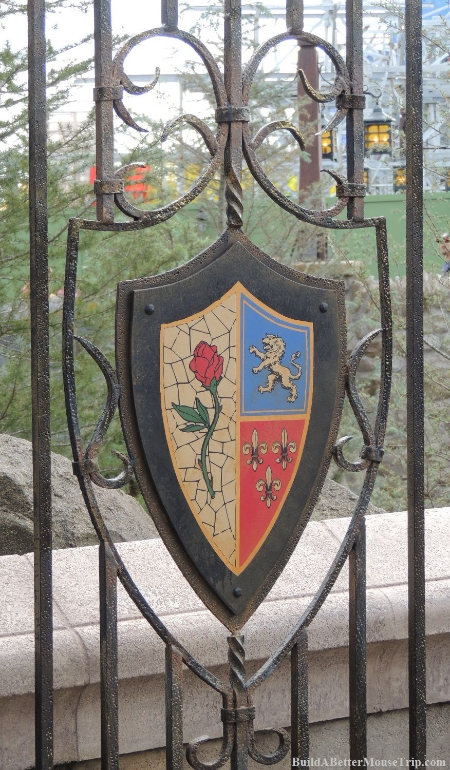 crest from beast 39 s castle in the new fantasyland area of the magic kingdom in disney world. Black Bedroom Furniture Sets. Home Design Ideas