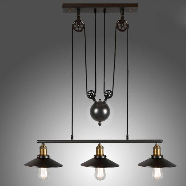 Tray adjustable height pulldown island pendant retro industrial tray adjustable height pulldown island pendant retro industrial pendant lights ceiling lights lighting mozeypictures Choice Image
