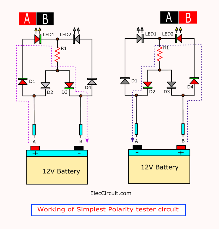 3 Idea Polarity Car Electrical Probe Tester Circuit Eleccircuit Com In 2020 Electrical Circuit Diagram Circuit Electronic Circuit Projects