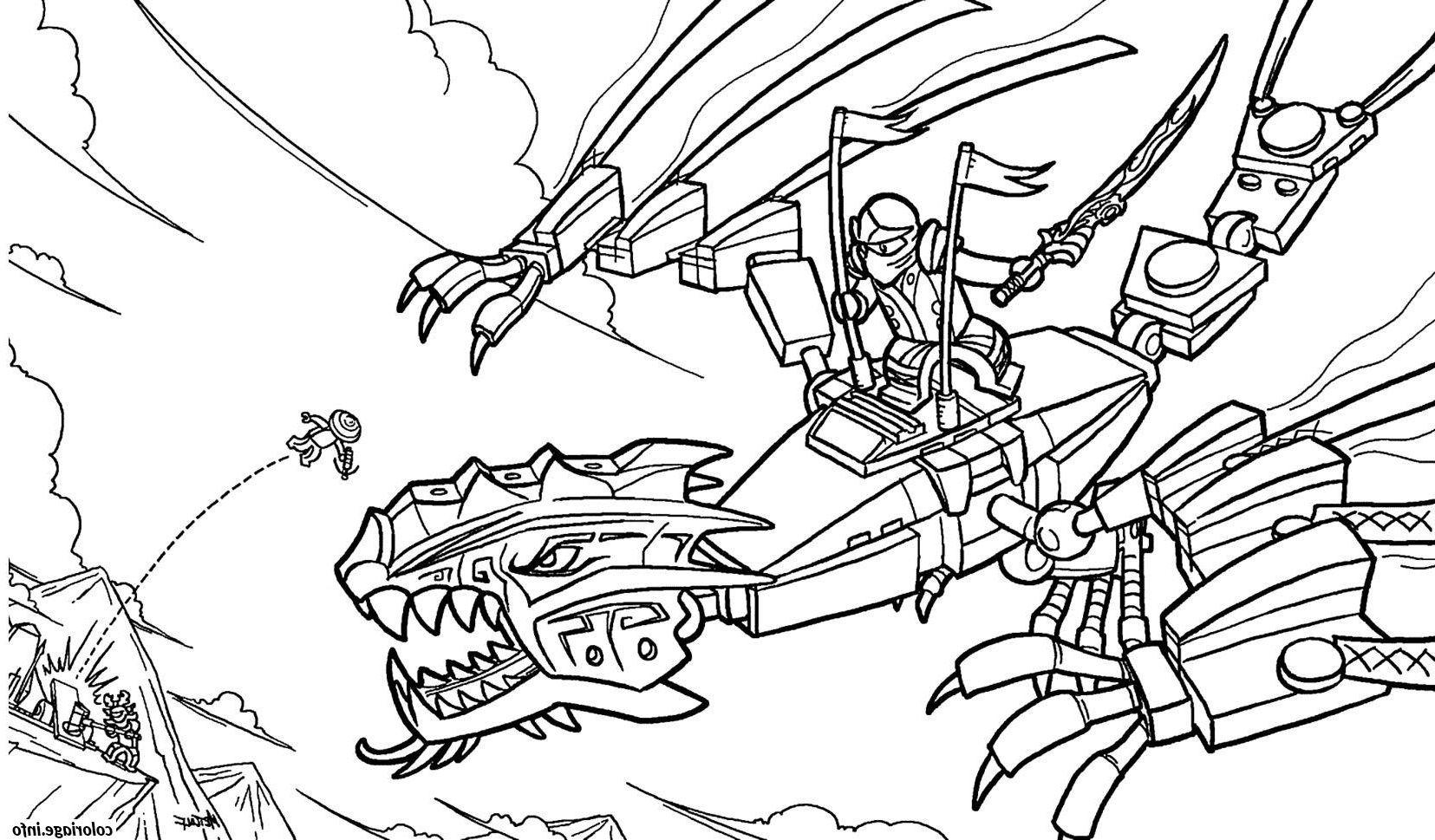 Ninjago Sur Un Dragon Ninja Coloriage 1951 In 2020 Sketches