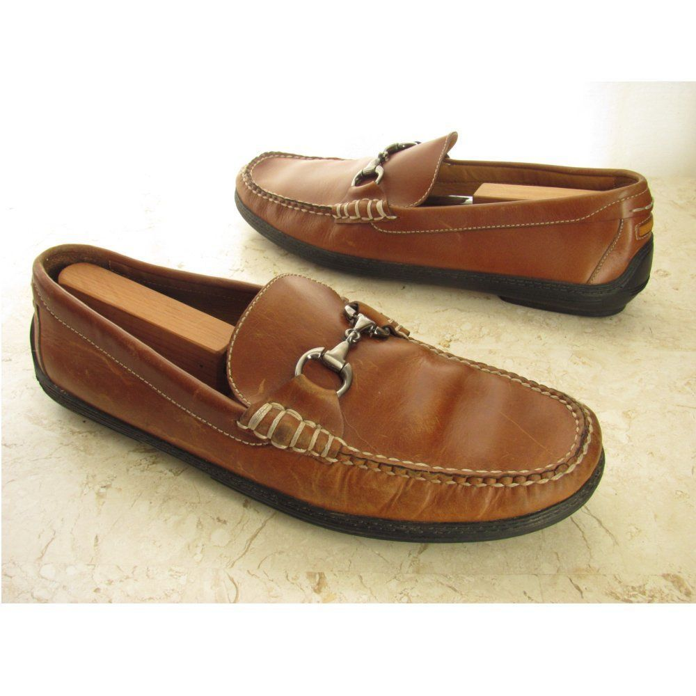 5bdb8196e98 Peter Millar Driving Moccasins 11.5 W Horsebit Saddle Tan Brown Loafers  Shoes  PeterMillar  DrivingMoccasins