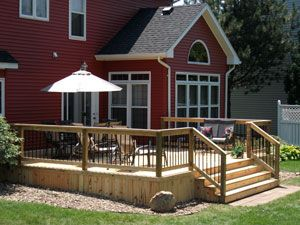 Place Plantings Mulch Or Stones Around Deck To Make It Blend Better  LOVE  The Sides