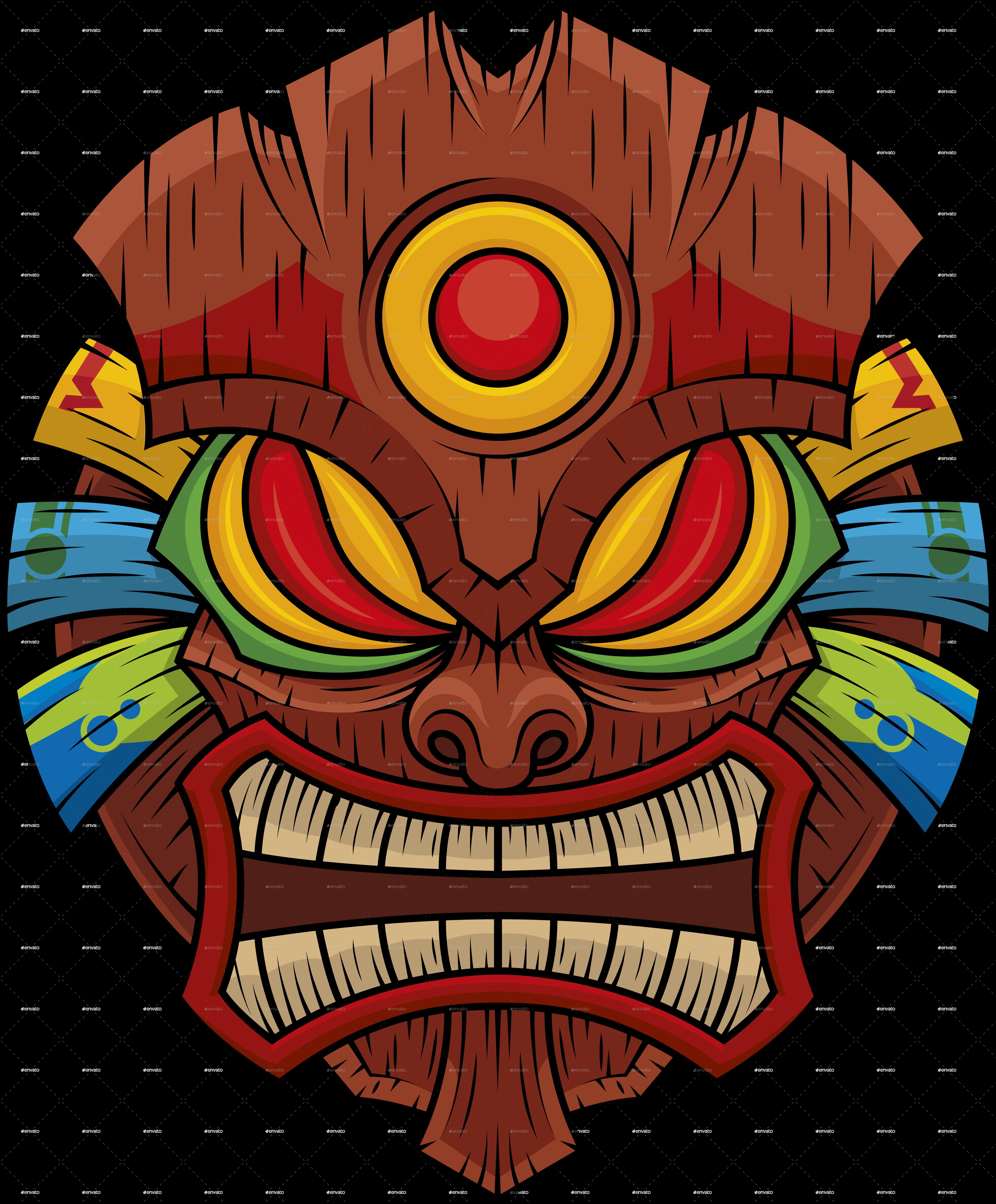The Tiki Collection Vol 1 Tiki head, Tiki tattoo