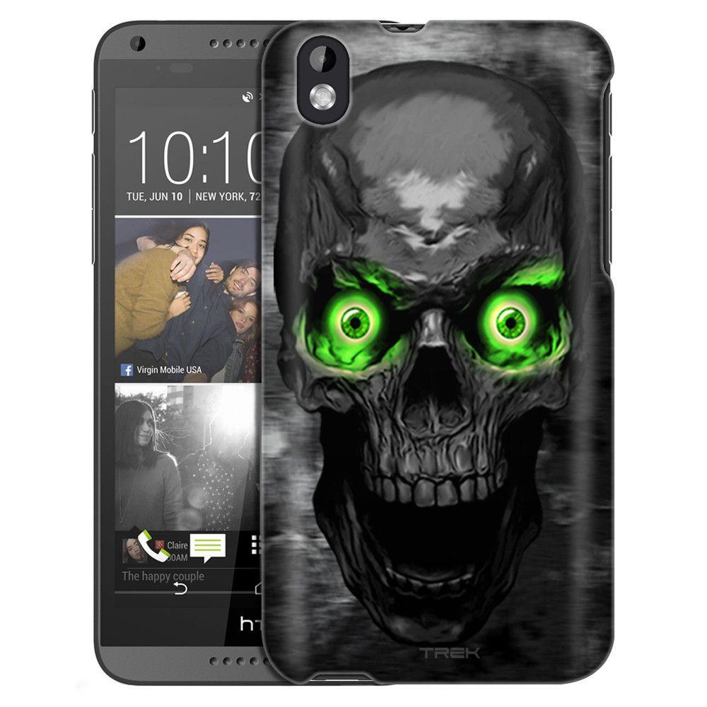 HTC Desire 816 Skull Colored Eyes Green Slim Case