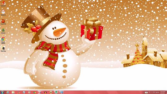 cool windows 7 christmas theme windows themes free - Christmas Themes Free