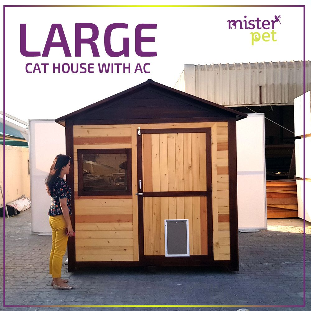 Large Cat House With Split AC for Sale🇦🇪️ MisterPet