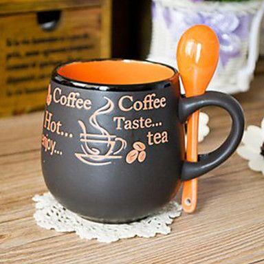 Matt Black Coffee Mug Cup