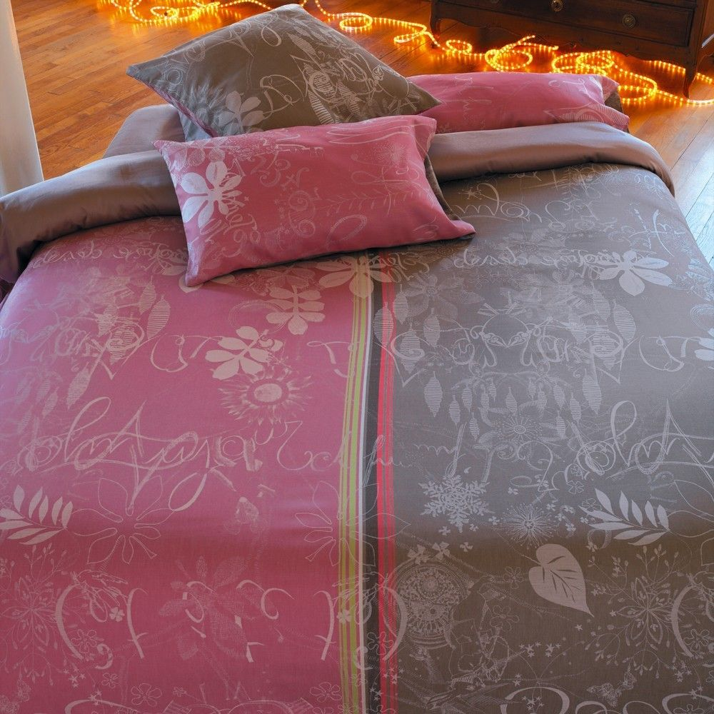 Housse De Couette Jardin Imaginaire Taupe Taupe And Chalets
