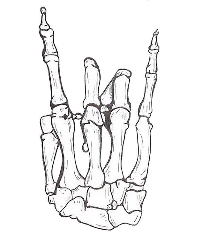 Rock Sticker By Tom Houlden Skeleton Hand Tattoo Hand Tattoos Skeleton Tattoos