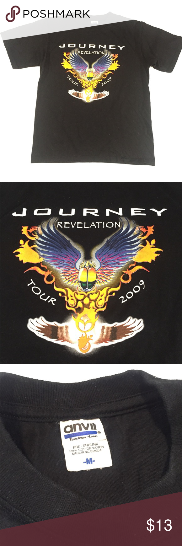 36bdbcfbe Journey Revelation 2009 Tour Graphic T-Shirt Journey Revelation 2009 Tour  Graphic T-Shirt Men's Size: Medium In Great Condition, Normal Aging Anvil  Shirts ...
