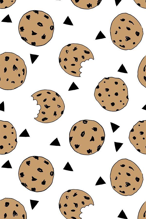Colorful Fabrics Digitally Printed By Spoonflower Cookies Food Kids Nursery Baby Illustration In 2021 Cute Food Wallpaper Cookie Drawing Baking Wallpaper