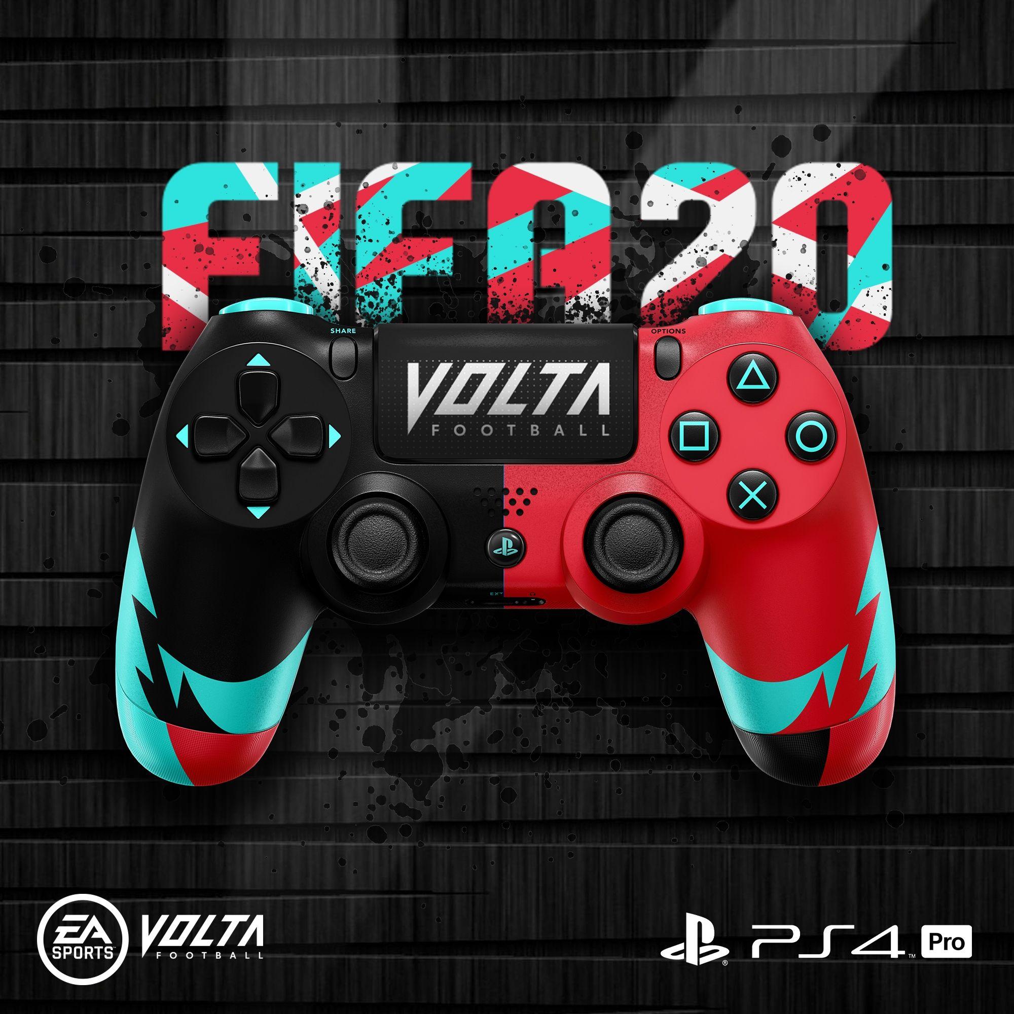 Created A Dualshock 4 Controller Design Mock Up Fifa 20 Volta Football Logo Designer Graphic Inspirationa Em 2020 Esportes Futebol Ideias Para Sala De Jogos Fifa