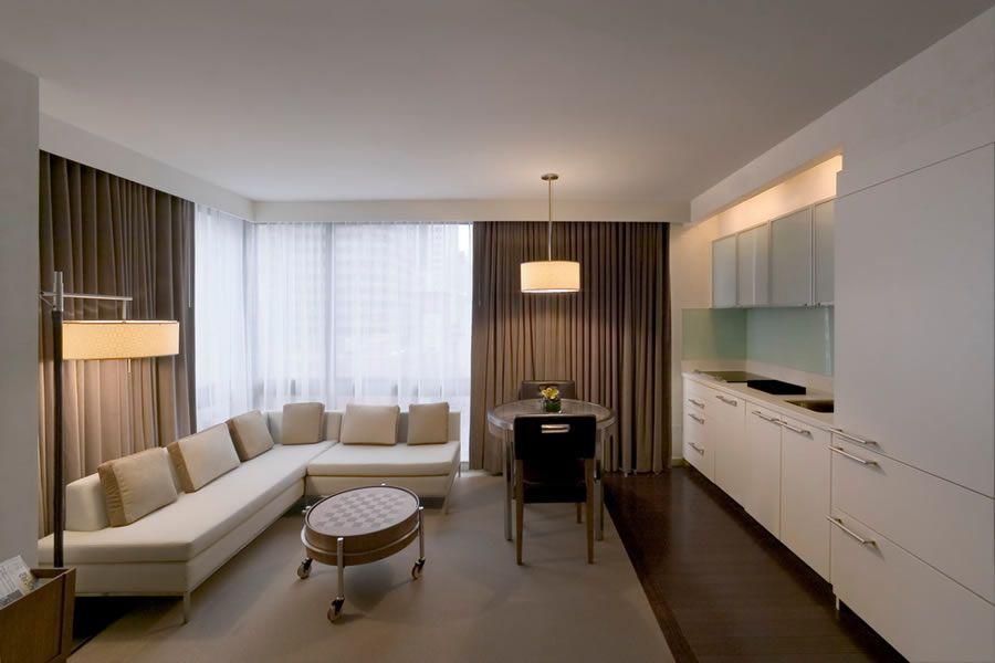 Modern luxury and elegant hospitality hotel interior design of the alex hotel manhattan new york