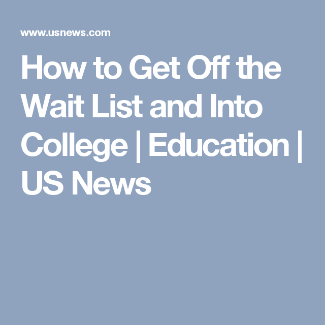how to get into college