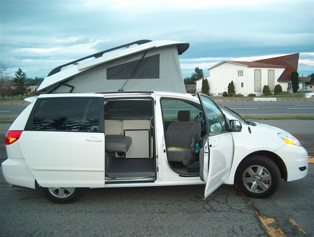 Gtrv Toyota And Chevy Pop Top Conversions Country Homes Campers Toyota Camper Minivan Camper Conversion Toyota Sienna