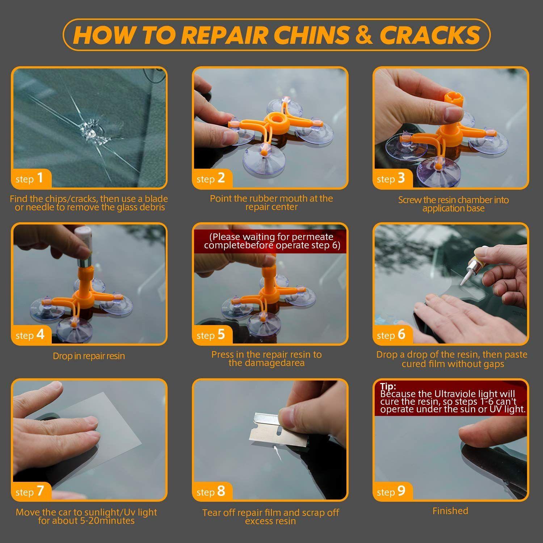 Lifede windshield repair kit windshield chip repair kit