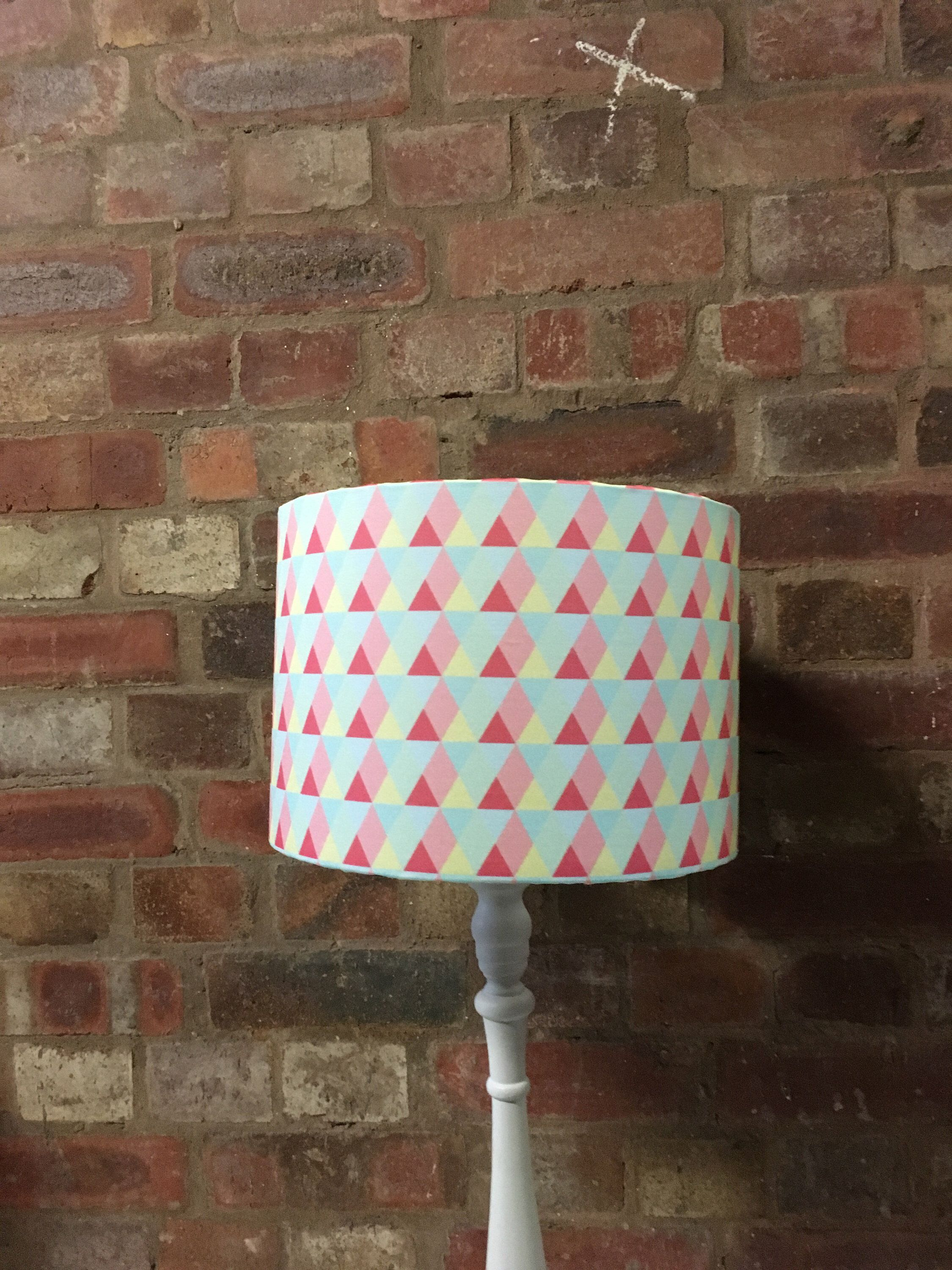 Pink Lampshade Geometric Triangle Home Decor Triangles Pastel