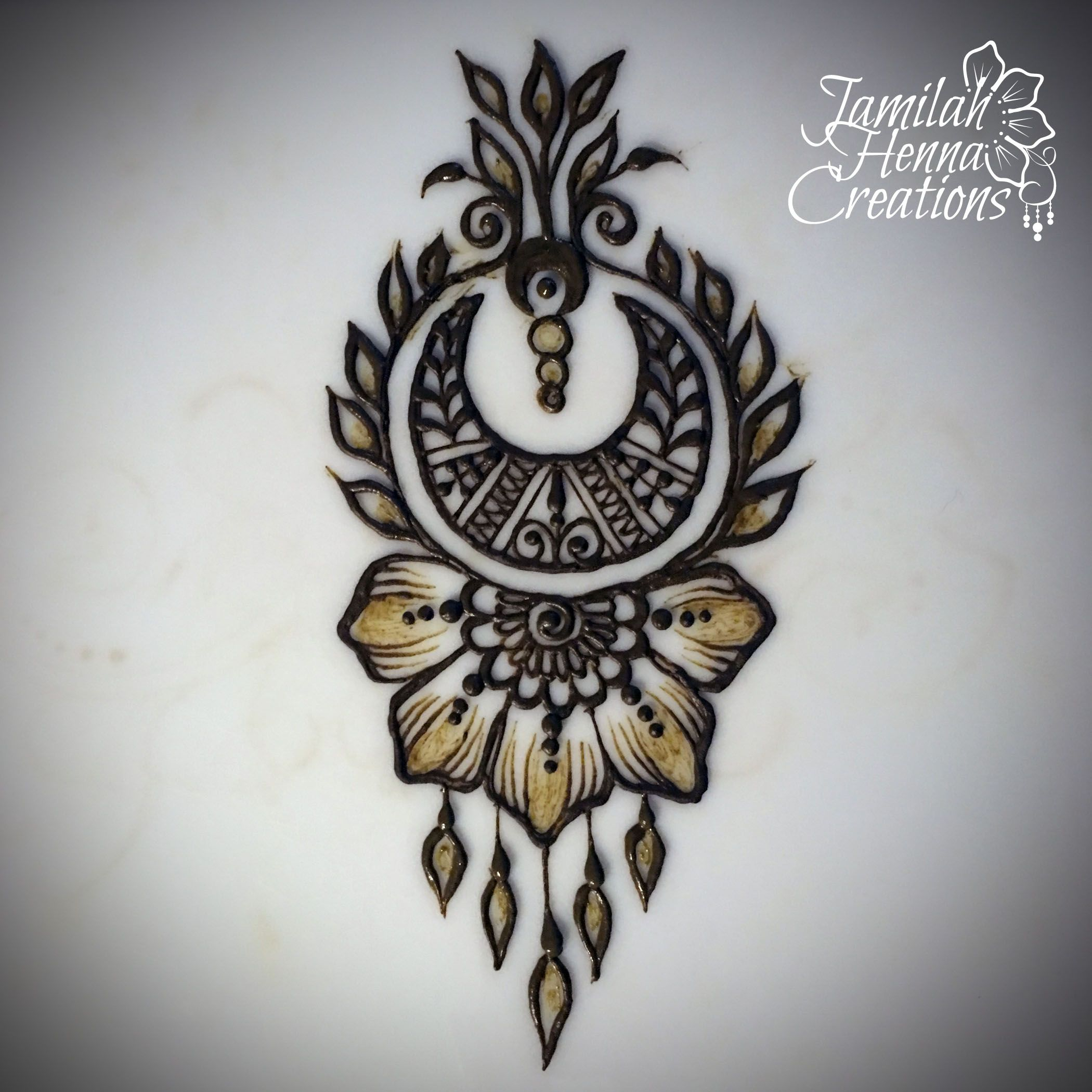 Moroccan Moon Flower Henna Www Jamilahhennacreations Com Henna