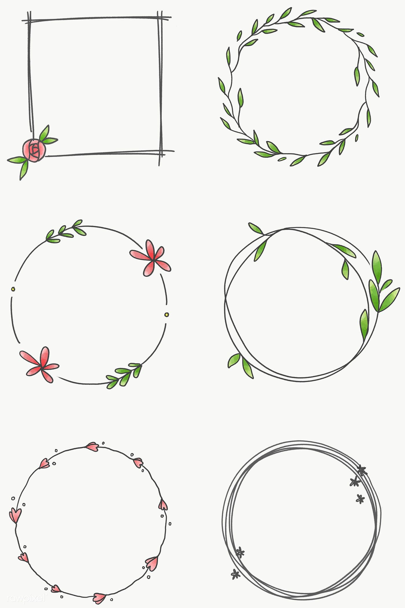Download Premium Png Of Floral Frame Set Transparent Png 2100612 In 2020 Bullet Journal Writing Bullet Journal Ideas Pages Bullet Journal Banner