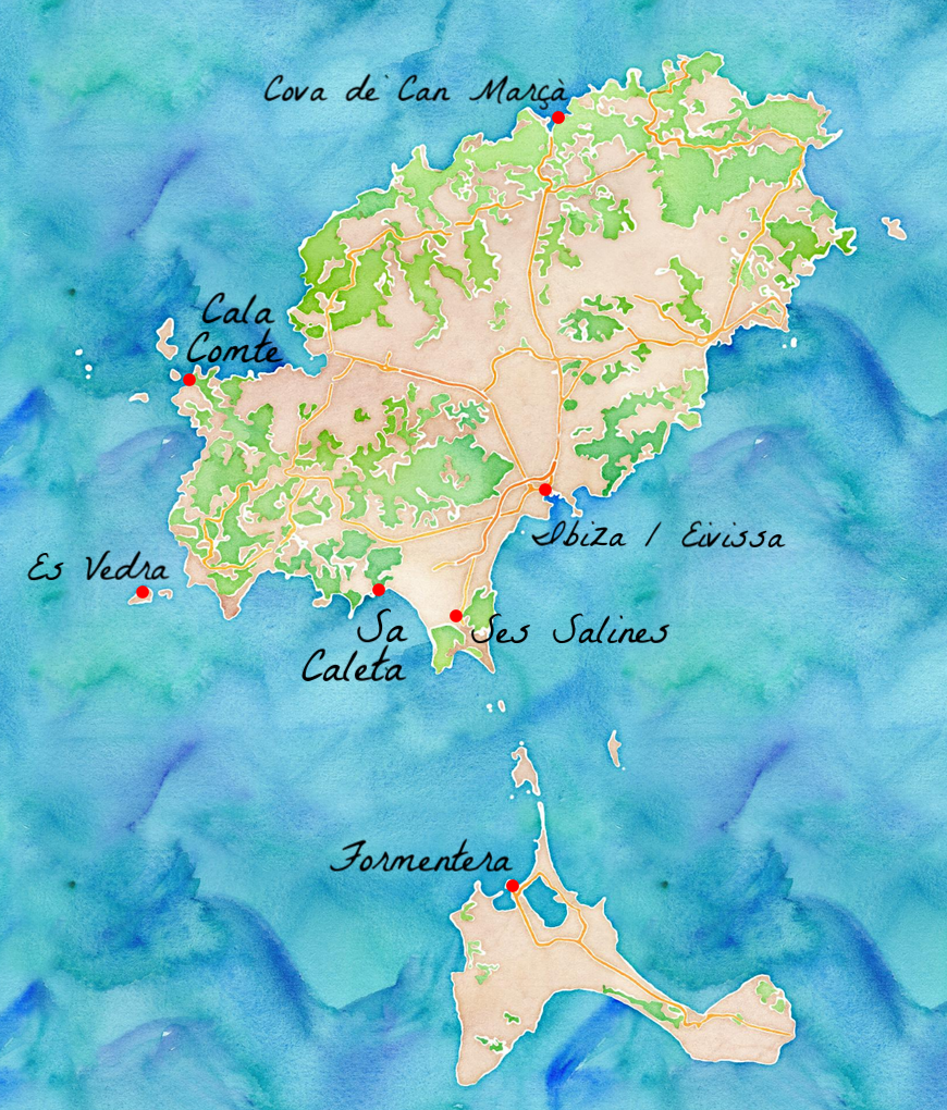 Carte Espagne Ibiza.7 Etapes Pour Un Road Trip A Ibiza Travel Graphics Ibiza
