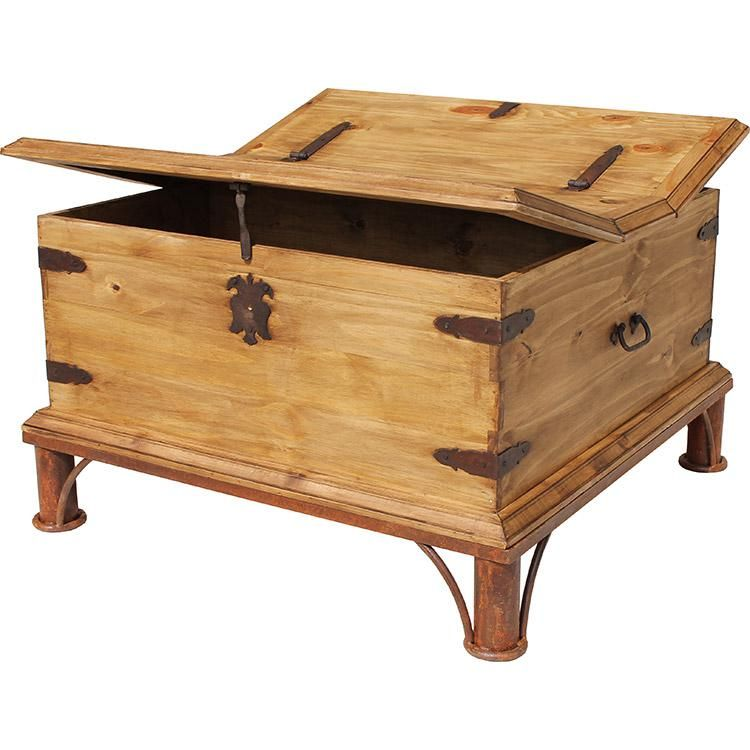 Mexican Rustic Pine Coffee Table: Trunk Coffee Tablew/ Base