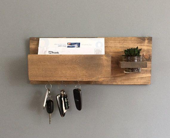 Key Holder Key Hook Mail Box Entryway Storage Gift By Newlovedecor Entryway Key Holder Key Holder Diy Key Holder