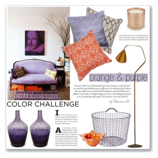 """ORANGE & PURPLE"" by valentina-agnese ❤ liked on Polyvore featuring interior, interiors, interior design, дом, home decor, interior decorating, Villa Home Collection, Korbo, Moroccan Prestige и Karl Lagerfeld"