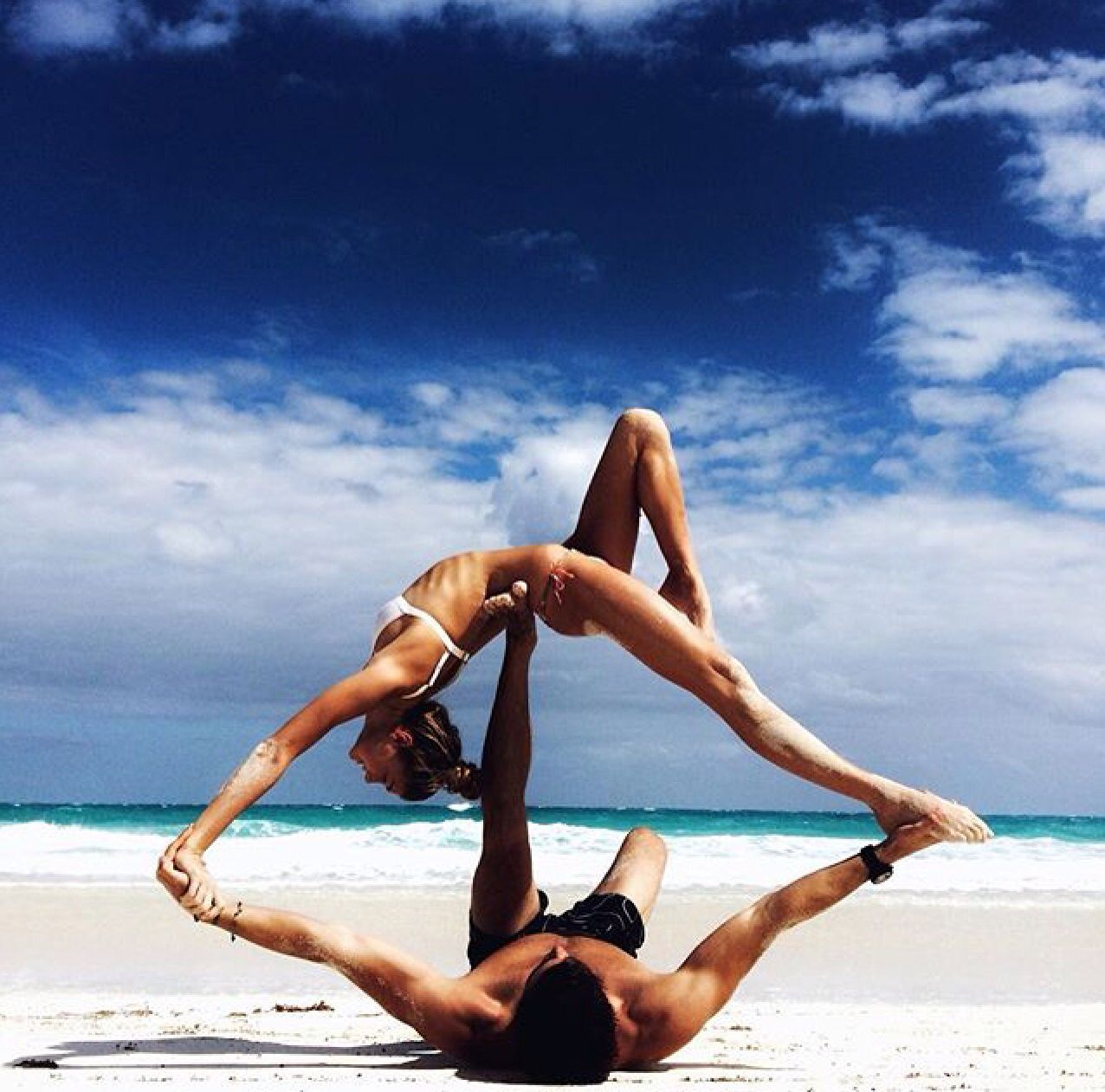 Brother, Sister duo  Couples yoga, Yoga photos, Partner yoga
