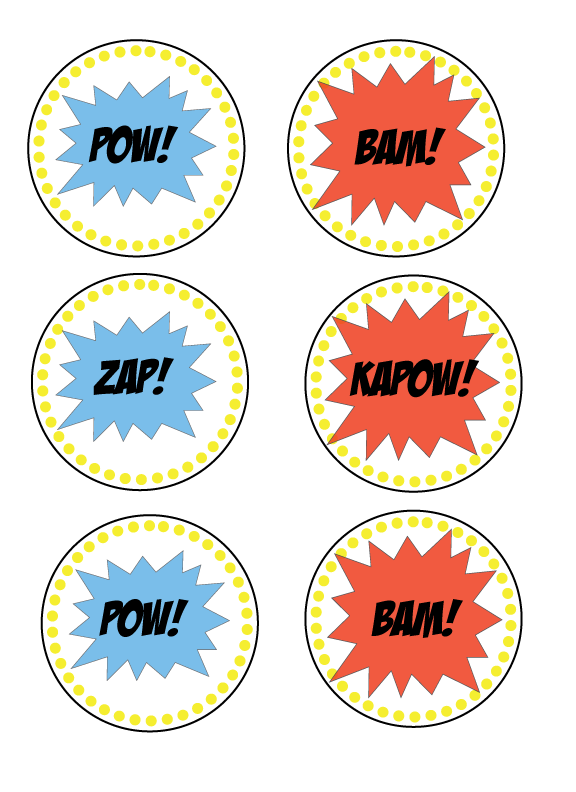 Superhero Party Decorations + Free Template - Tori Grant Designs