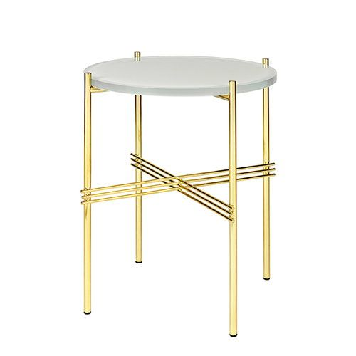 Ts Round Coffee Table With Glass Top Black Frame From Gubi In 2019 Products Glass Top Coffee Table Table Glass Table