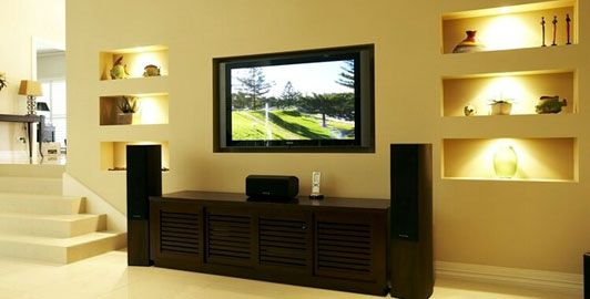 18 Chic and Modern TV Wall Mount Ideas for Living Room   Tv wall ...