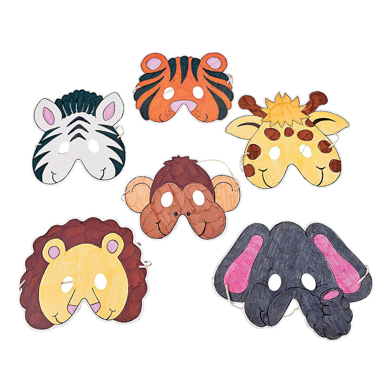 Color Your Own Zoo Animal Masks - OrientalTrading.com ... - photo#3