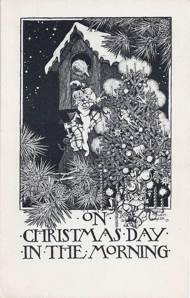 Etsy Vintage Team: An art nouveau Christmas greeting | Illustrations ...