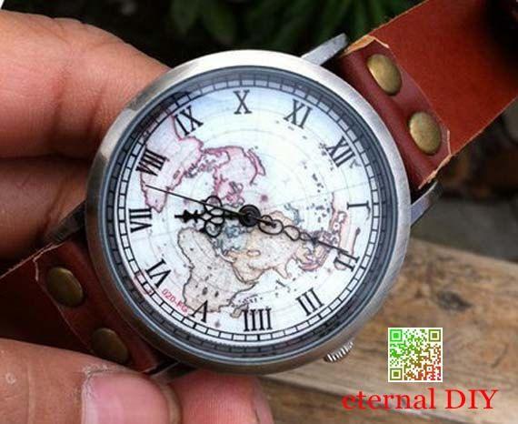 Map watches  watches Roman scale bronze watches by eternalDIY, $9.99
