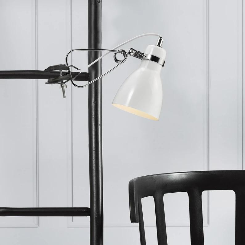Lampe De Bureau à Pince Design Métal Blanc Nordlux