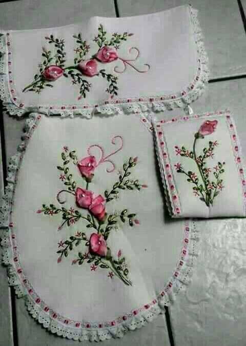 Diseos para bordar con cinta juegos de bao Imagui navideos
