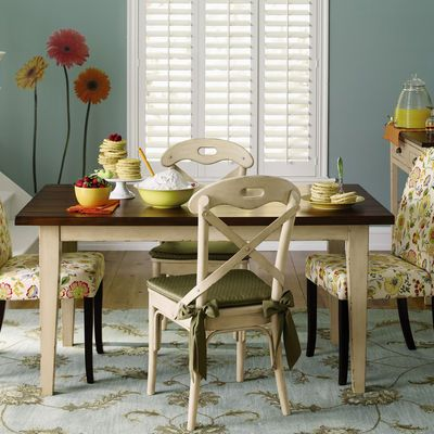 Carmichael Dining Table Ivory New Table 60x36x30 Too Big Chic Dining Room Dining Chair Design Shabby Chic Dining Room