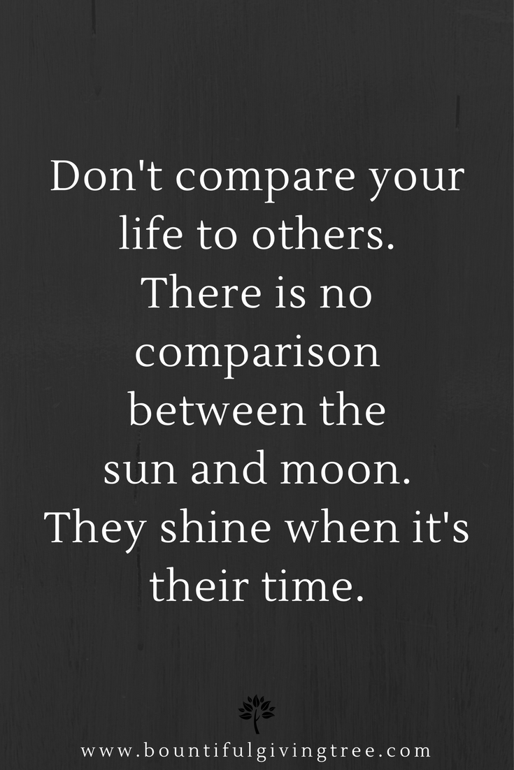 Delicieux Positive Quote Of The Day: Donu0027t Compare Your Life To Others. There
