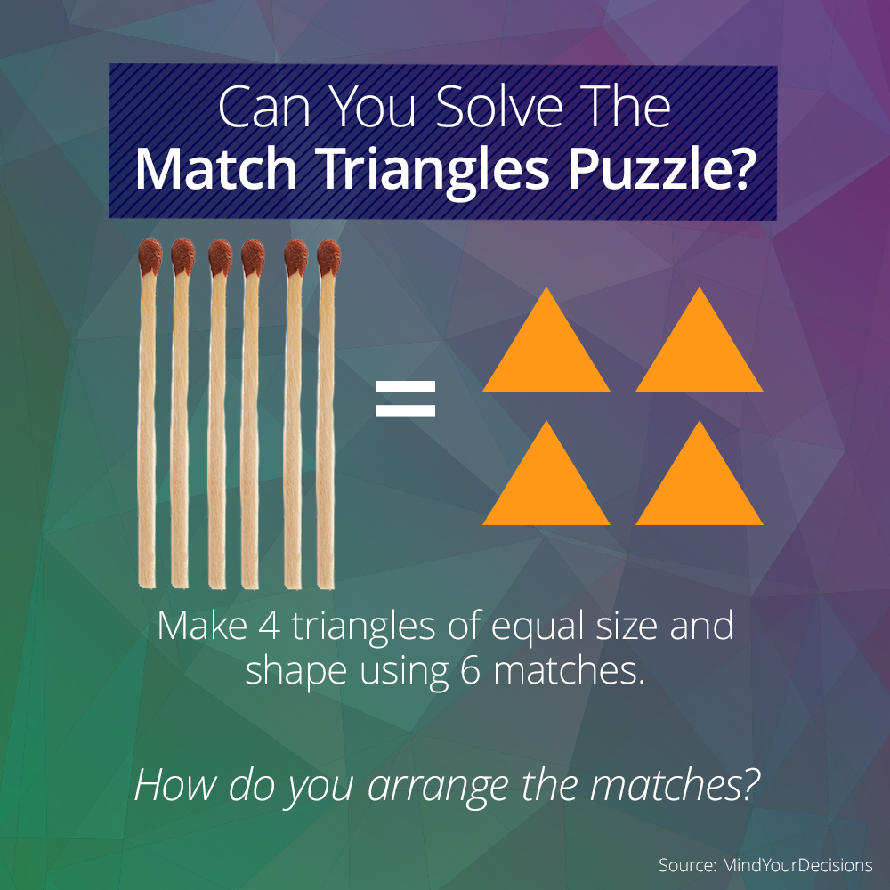 This Tricky Logic Puzzle Involves Matches And Triangles