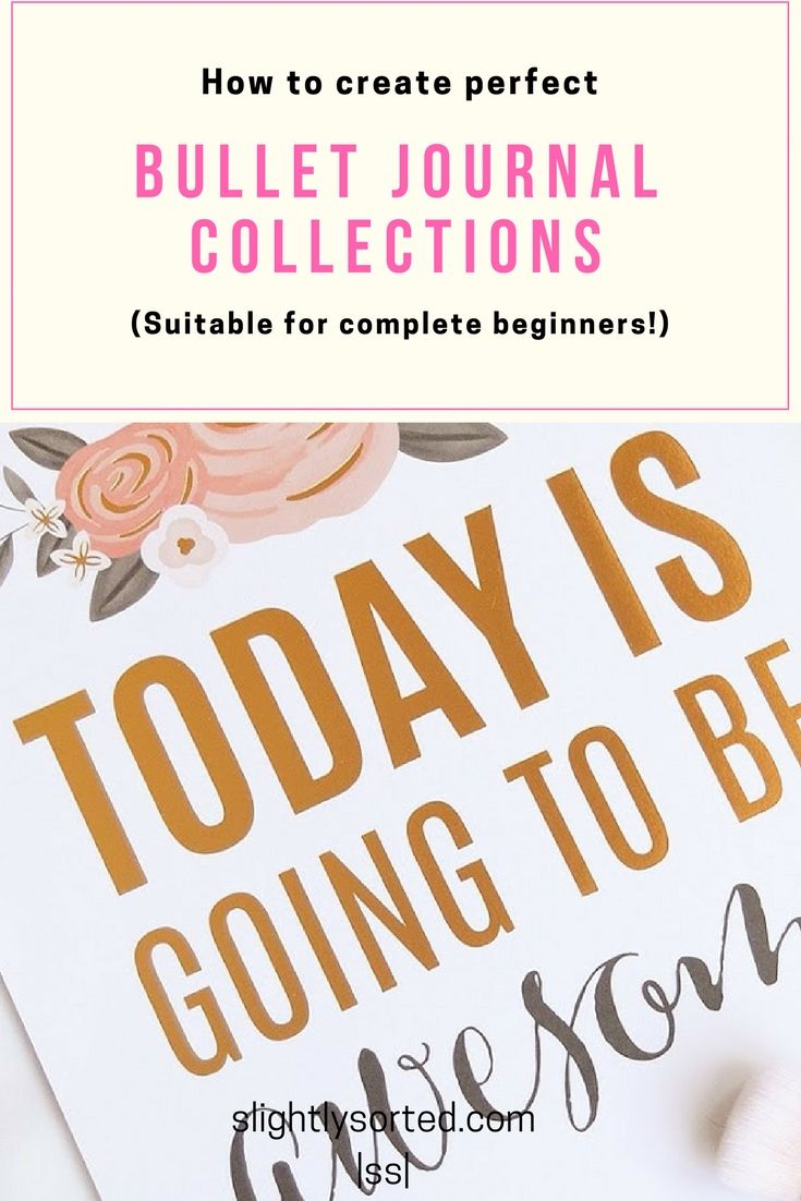What Is A Bullet Journal Collection? - Slightly Sorted