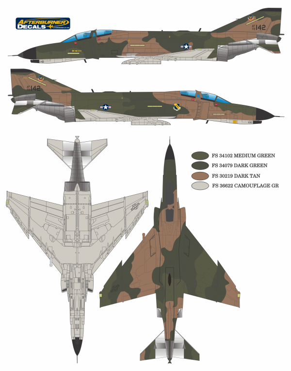 F-4C/D/E Phantom II Southeast Asia (USAF SEA) Color Profile and Paint Guide Updated
