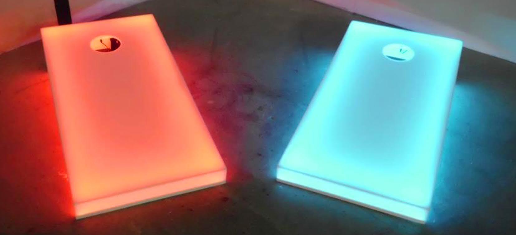 Backlit cornhole bards. Maybe made of acrylic? | Cornhole Boards ...