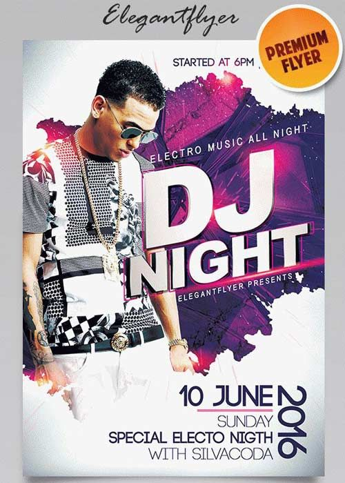 Guest Dj Party V1 2018 Flyer Psd Template Facebook Cover Free