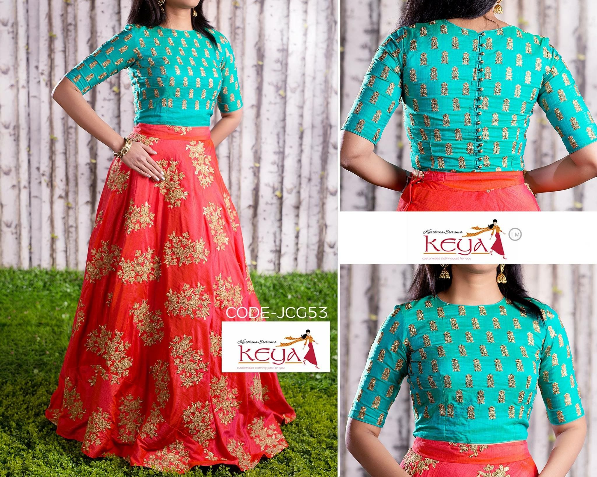 7b715b652cb31 Crop top and lehenga