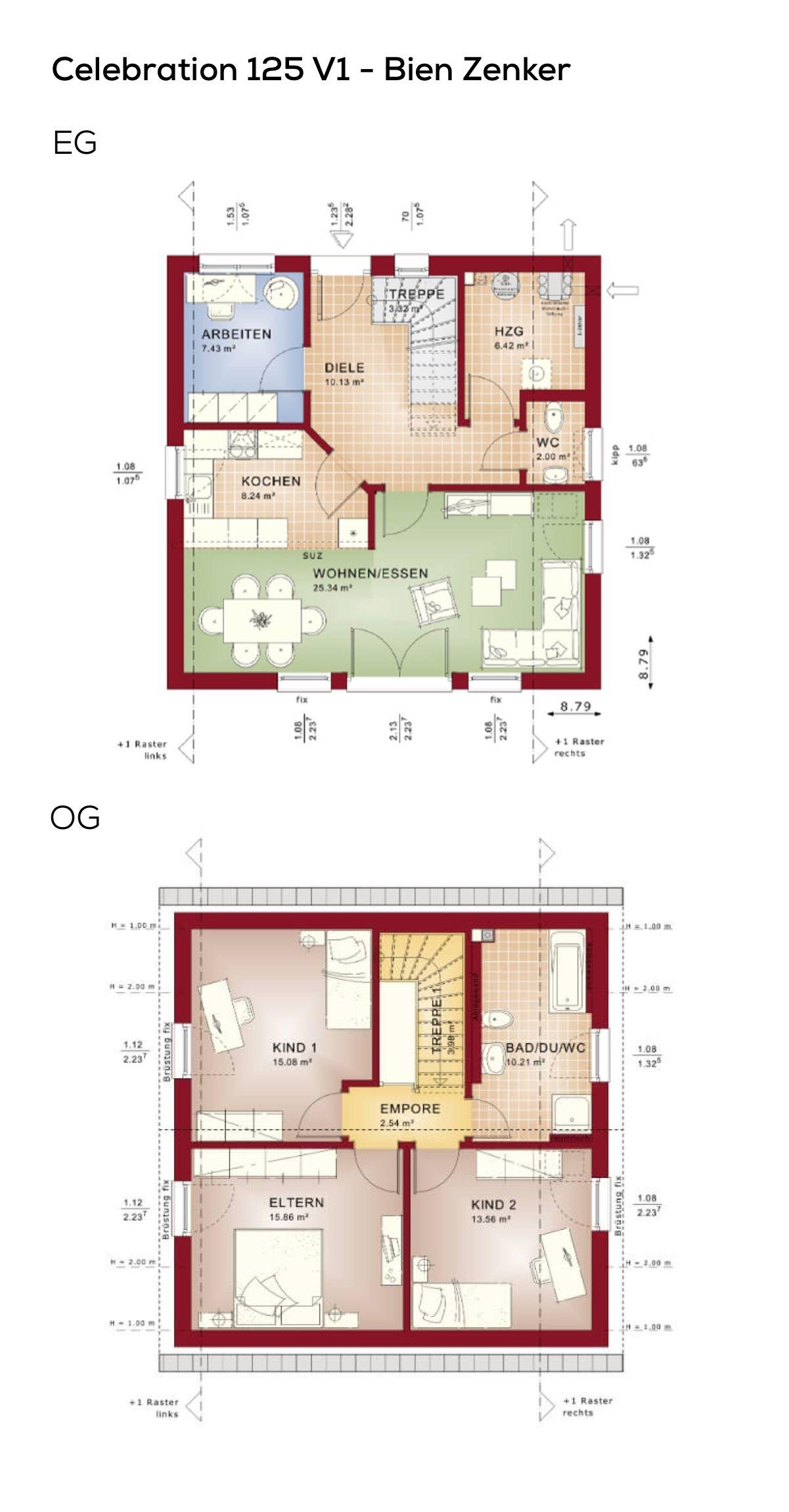 grundriss einfamilienhaus klassisch mit satteldach architektur 5 zimmer 124 qm wfl ohne. Black Bedroom Furniture Sets. Home Design Ideas