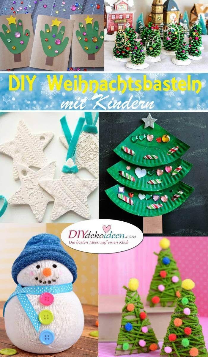 Kreative DIY Bastelideen für Weihnachtsbasteln mit Kindern #weihnachtsbastelnnaturmaterialien