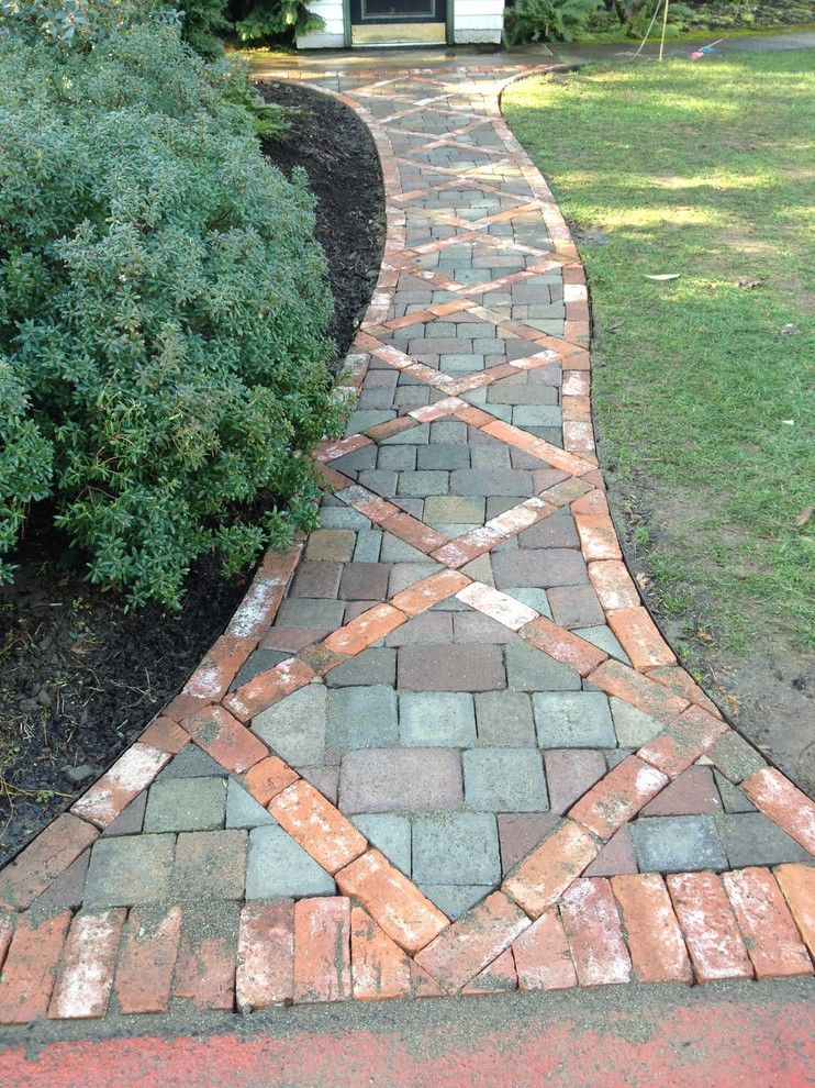 Brick Paver Patio With Fire Pit Cost: Patio-paver-designs-Landscape-Traditional-with-artificial