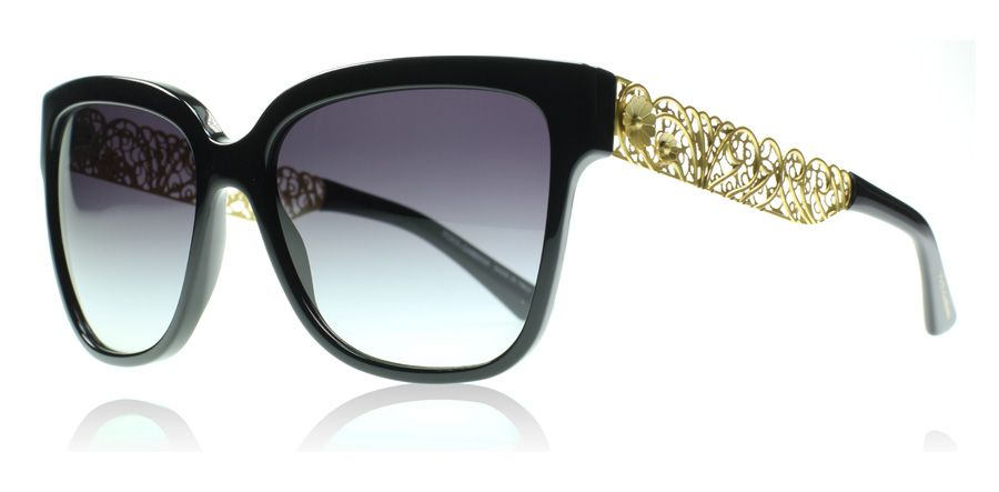 9ef7c199f487 Dolce and Gabbana 4212 Black and Gold 501 8G