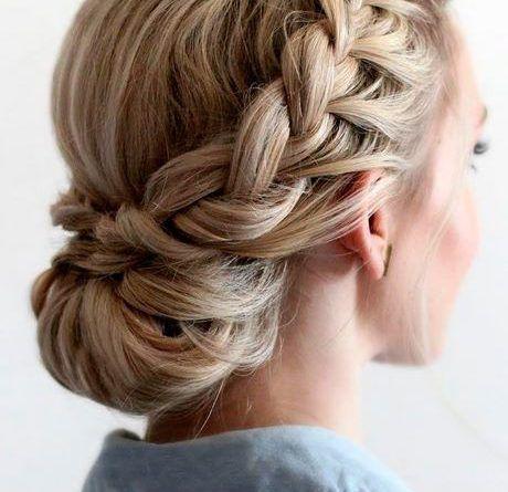 Prom geflochtene Hochsteckfrisuren für lange Haare #saçstilleri